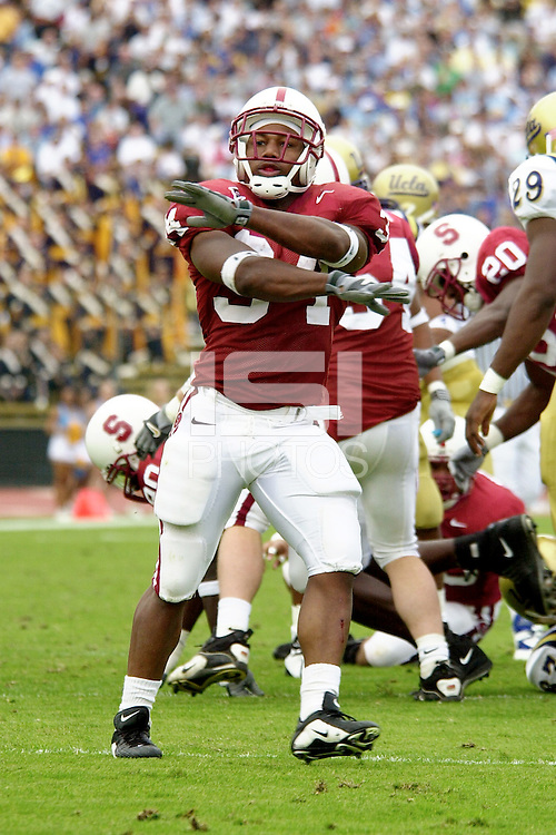 Brian Allen during Stanford's victory over UCLA on October 27, 2001 at Stanford Stadium.<br />Photo credit mandatory: Gonzalesphoto.com