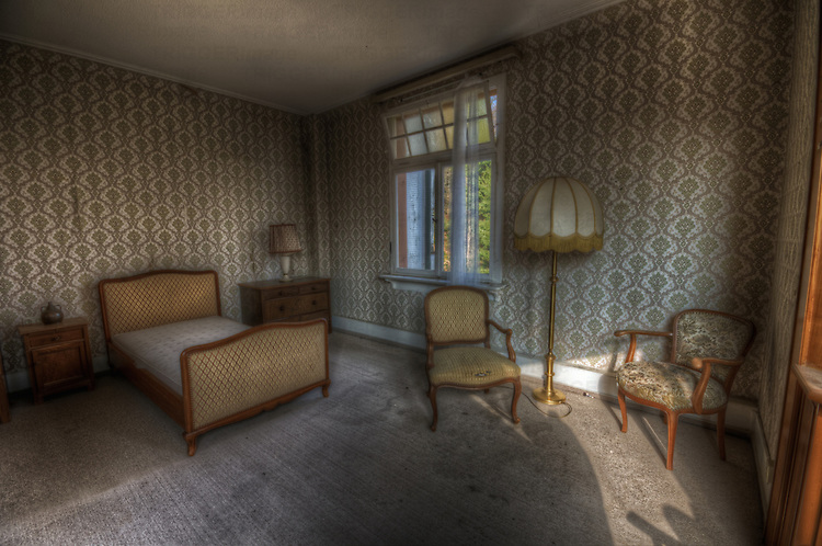 An old hotel in the Black Forest with bedroom furniture
