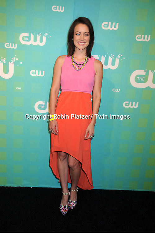 Jessica Stroup attends The CW Network's 2012 Upfront Presentation on May 17, 2012 at New York City Center in New York.