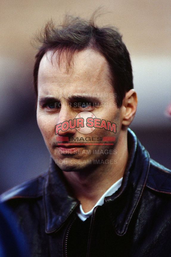New York Yankees General Manager Brian Cashman during a game against the Los Angeles Dodgers circa 1999 at Dodger Stadium in Los Angeles, California. (Larry Goren/Four Seam Images)