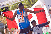 Ottawa, Ontario ---25/05/08--- Giitah Macharia runs during the ING Ottawa Marathon, May 26, 2008..GEOFF ROBINS /
