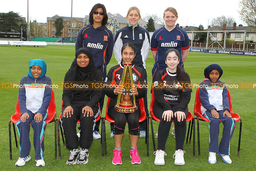 Essex CCC East London Street Chance Team Photo with Heather Knight - Essex CCC Women & Girls Press Day at the Essex County Ground, Chelmsford - 11/04/14 - MANDATORY CREDIT: Gavin Ellis/TGSPHOTO - Self billing applies where appropriate - 0845 094 6026 - contact@tgsphoto.co.uk - NO UNPAID USE
