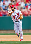 13 March 2016: Washington Nationals infielder Anthony Rendon gets the second out of the 5th inning during a pre-season Spring Training game against the St. Louis Cardinals at Space Coast Stadium in Viera, Florida. The teams played to a 4-4 draw in Grapefruit League play. Mandatory Credit: Ed Wolfstein Photo *** RAW (NEF) Image File Available ***