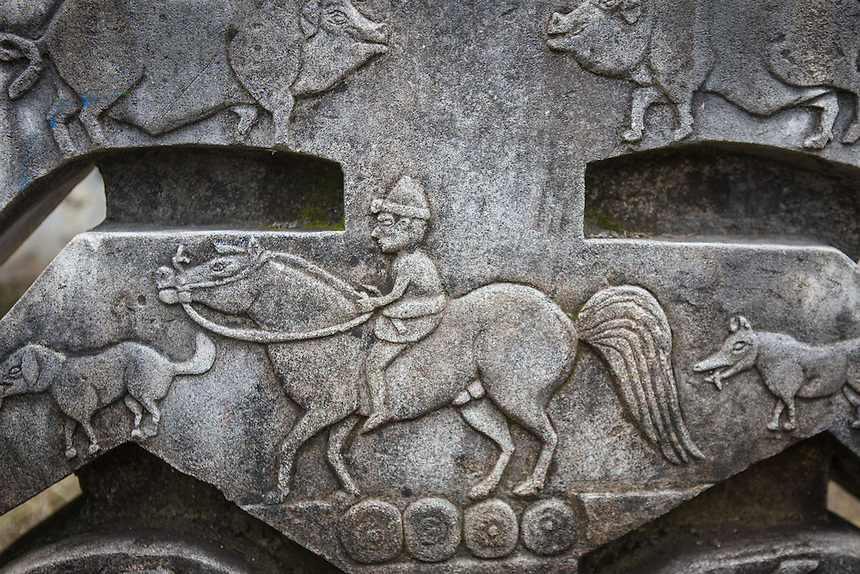Horse is an important creature for the Sumbanese. Horseriding in Sumba as depicted on a carved stone.