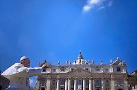 Pope Francis during a mass marking the Jubilee for Catechists in Saint Peter's Square at the Vatican on September 25, 2016.