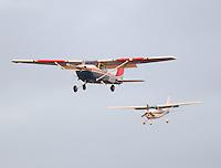 Nov 12, 2016; Pomona, CA, USA; Cessna propellar aircraft airplane prepare to land near NHRA Auto Club Finals at Auto Club Raceway at Pomona. Mandatory Credit: Mark J. Rebilas-USA TODAY Sports