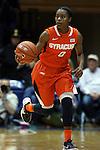 08 January 2015: Syracuse's Diamond Henderson. The Duke University Blue Devils hosted the Syracuse University Orange at Cameron Indoor Stadium in Durham, North Carolina in a 2014-15 NCAA Division I Women's Basketball game. Duke won the game 74-72.