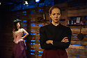 """London, UK. 10.02.2014.  """"In Skagway"""" by Karen Ardiff, directed by Russell Bolam, opens at the Arcola Theatre. Picture shows: Kathy Rose O'Brien (T-Belle) and Natasha Starkey (Nelly). Photograph © Jane Hobson."""