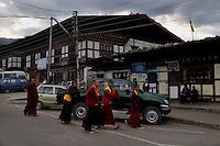 Lamas at Jakar township in Bumthang, Bhutan. Arindam Mukherjee.