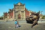 Mexico, Mexico City, Public Art, Zocalo, Metropolitan Cathedral