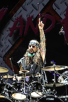 DERBYSHIRE, ENGLAND - AUGUST 12: Mike Portnoy of 'Twisted Sister' performing at Bloodstock Open Air Festival, Catton Park on August 12, 2016 in Derbyshire, England.<br /> CAP/MAR<br /> &copy;MAR/Capital Pictures /MediaPunch ***NORTH AND SOUTH AMERICAS ONLY***