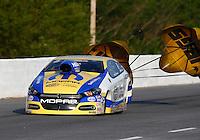 May 17, 2014; Commerce, GA, USA; NHRA pro stock driver Allen Johnson during qualifying for the Southern Nationals at Atlanta Dragway. Mandatory Credit: Mark J. Rebilas-USA TODAY Sports