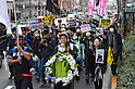Tokyo, Japan - March 11: Hundreds of thousands of people walked and shout against nuclear power plants during a demonstration at Chiyoda, Tokyo, Japan on March 11, 2012. As this day was one year anniversary of Great East Japan Earthquake and Tsunami, there were many demonstrations held in the city.