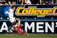 Akron's Anthony Ampaipitakwong (10) leaps over Louisville's Brock Granger (17). 2010 NCAA D1 College Cup Championship Final Akron defeated Louisville 1-0 at Harder Stadium on the campus of UCSB in Santa Barbara, California on Sunday December 12, 2010.