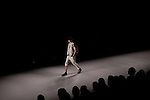 Models for the Brazilian brand, Triton, on the runway at São Paulo Fashion Week for Summer Season 2013/2014, at Bienal, in São Paulo, Brazil, on Wednesday, March 20, 2013.