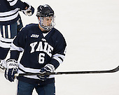 Stu Wilson (Yale - 6) - The Boston College Eagles tied the visiting Yale University Bulldogs 3-3 on Friday, January 4, 2013, at Kelley Rink in Conte Forum in Chestnut Hill, Massachusetts.
