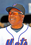 7 March 2009: New York Mets' bench coach Sandy Alomar Sr. smiles in the dugout prior to a Spring Training game against the Washington Nationals at Tradition Field in Port St. Lucie, Florida. The Nationals defeated the Mets 7-5 in the Grapefruit League matchup. Mandatory Photo Credit: Ed Wolfstein Photo