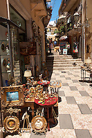 Antique shop in Taormina, Sicily