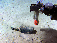 The Norwegian designed and built ROV has transferred the brush and fingertip sensitivity of an archaeologist of flesh and blood, to a hydraulic arm of equal tenderness. It digs, sucks sludge and picks up fragile objects without causing any damage. ©Fredrik Naumann/Felix Features
