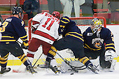 Zach Davies (Quinnipiac - 3), Daniel Moriarty (Harvard - 11), ?, Eric Hartzell (Quinnipiac - 33) - The visiting Quinnipiac University Bobcats defeated the Harvard University Crimson 3-1 on Wednesday, December 8, 2010, at Bright Hockey Center in Cambridge, Massachusetts.