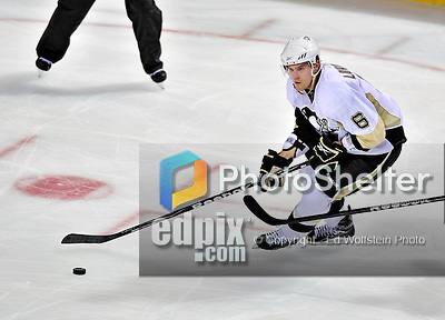 21 September 2009: Pittsburgh Penguins' defenseman Ben Lovejoy (6) leads a rush in the third period of a pre-season game against the Montreal Canadiens at the Bell Centre in Montreal, Quebec, Canada. The Canadiens edged out the defending Stanley Cup Champions 4-3. Mandatory Credit: Ed Wolfstein Photo
