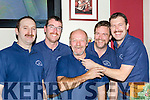 Seanie Hughes checks the length of Domo Kirwan beard at the Cordal Movember in Hughes bar on Saturday night l-r: Colin Poolman, Michael O'Sullivan, Domo Kirwan, TJ Greaney and Seanie Hughes