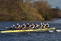 003 UTC Upper Thames. Wallingford Head of the River. Sunday 27 November 2011. 4250 metres upstream on the Thames from Moulsford railway bridge to Oxford Universitiy's Fleming Boathouse in Wallingford. Event run by Wallingford Rowing Club..