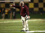 18 November 2006: Virginia Tech head coach Frank Beamer points at the referee (not pictured). The Virginia Tech Hokies defeated the Wake Forest University Demon Deacons 27-6 at Groves Stadium in Winston-Salem, North Carolina in an Atlantic Coast Conference NCAA Division I College Football game.