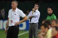 DC United head coach Curt Onalfo.  DC United defeated AC. Milan 3-2 at RFK Stadium, Wednesday May 26, 2010.