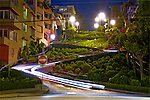 Lombard By Night: This is an image of Lombard Street in San Francisco.  It is the most crooked street in the world.  During the day it is filled with tourists so I decided a night shot would be best.  This image, created in 2007 is what got me started on my fascination with light streaks in long exposure shots.  The light streaks from this image originated from a car that just so happened to drive down while I was exposing the picture.  This image is also the image that made me fall in love with photography all over again.<br /> <br /> Currently at price level: 1