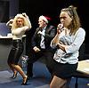 Saxon Court <br /> by Daniel Andersen <br /> at Southwark Playhouse, London, Great Britain <br /> press photocall <br /> 24th November 2014 <br /> <br /> <br /> <br /> Sophie Ellerby as Nat <br /> John Pickard as Joey <br /> Alice Franklin as Tash <br /> <br /> <br /> <br /> <br /> <br /> <br /> Photograph by Elliott Franks <br /> Image licensed to Elliott Franks Photography Services