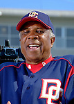 15 March 2006: Frank Robinson, manager of the Washington Nationals, speaks to  members of the media prior to a Spring Training game against the New York Mets. The Mets defeated the Nationals 8-5 at Space Coast Stadium, in Viera, Florida...Mandatory Photo Credit: Ed Wolfstein..