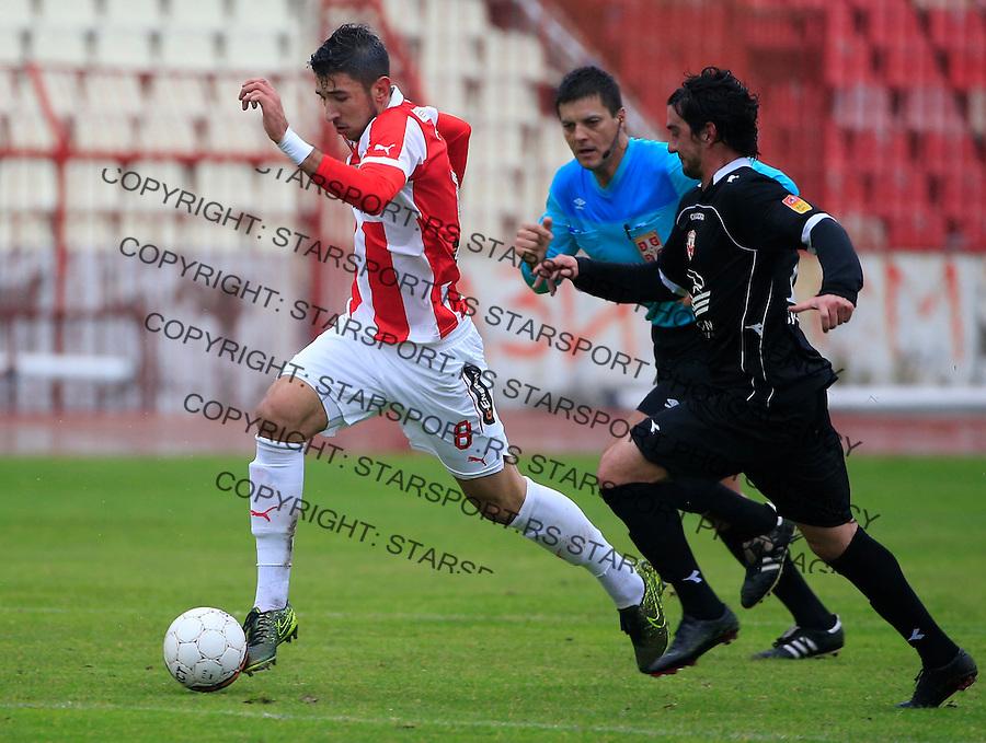 Fudbal Jelen Super League season 2015-2016<br /> Crvena Zvezda v Vozdovac<br /> Marko Grujic and Marko Adamovic (R)<br /> Beograd, 28.11.2015.<br /> foto: Srdjan Stevanovic/Starsportphoto&copy;