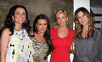 Jenni Pulos, Kyle Richards, Camille Grammer, Rita Wilson.Bravo's Andy Cohen's Book Release Party For &quot;Most Talkative: Stories From The Front Lines Of Pop Held at SUR Lounge, West Hollywood, California, USA..May 14th, 2012.half length white black yellow floral print dress  sleeveless red tiger animal print grey gray top black.CAP/ADM/KB.&copy;Kevan Brooks/AdMedia/Capital Pictures.