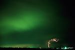 Lightning strike at nighttime Northern Utah State
