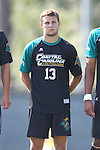 02 September 2013: Coastal Carolina's Shawn McLaws. The University of North Carolina Tar Heels hosted the Coastal Carolina University Chanticleers at Fetzer Field in Chapel Hill, NC in a 2013 NCAA Division I Men's Soccer match. UNC won the game 4-0.