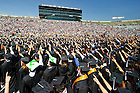May 19, 2013; Graduates sing the Alma Mater at the close of the 2013 Commencement ceremony in Notre Dame Stadium...Photo by Matt Cashore/University of Notre Dame
