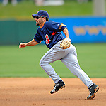 14 March 2008: Cleveland Indians' infielder Jamey Carroll in action during a Spring Training game against the Washington Nationals at Space Coast Stadium, in Viera, Florida. The Nationals defeated the visiting Indians 8-4 as both teams fielded split squads home and away...Mandatory Photo Credit: Ed Wolfstein Photo