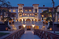 The Cloister, Sea Island,  Georgia, World renowned luxury resort dusk exterior