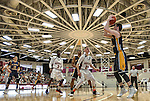 St. Mary's Joseph Fama, right, shoots an outside shot against Maynard during the second quarter of the Boys Division 4 state basketball final at Springfield College on Saturday, March 19, 2016. Photo by Christopher Evans