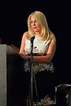 Bellmore, New York, USA. July 21, 2016. ANGELA ANTON accepts the Humanitarian Award at the 19th Annual Long Island International Film Expo Awards Ceremony, LIIFE 2016, held at the historic Bellmore Movies. Angela Susan Anton is the Publisher and CEO of Anton Media Group, one of the largest privately owned newspaper companies in New York State. LIIFE was called one of the 25 Coolest Film Festivals in the World by MovieMaker Magazine.