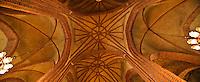 Interior ceiling detail of Storkyrkan, Stockholm, Sweden