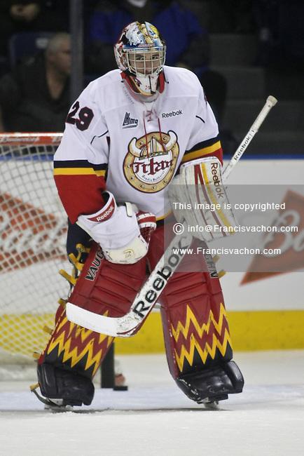 QMJHL (LHJMQ) hockey profile photo on Acadie-Bathurst Titan Mason McDonald November 21, 2012 at the Colisee Pepsi in Quebec city.