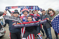 SAN JOSE, CA - March 24, 2017: US Soccer fans before the CONCACAF World Cup Qualifier game between the USA and Honduras at Avaya Stadium.