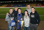 St Johnstone v Rangers&hellip;28.12.16     McDiarmid Park    SPFL<br />Fans Liason Officer Bev Mayer pictured with supporters from Eintracht Braunschweig<br />Picture by Graeme Hart.<br />Copyright Perthshire Picture Agency<br />Tel: 01738 623350  Mobile: 07990 594431