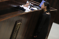 Parliament member Merav Michaeli during a vote on the so-called governability law. The governance law would raise the electoral threshold from 2 percent to 4 percent. Photo by Oren Nahshon