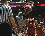 "Ole MIss forward Reginald Buckner (2)  shoots at C.M. ""Tad"" Smith in Oxford, Miss. on Saturday, March 5, 2010. Ole Miss won 84-74."