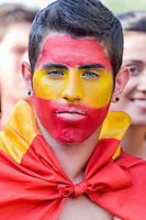 Portrait with colors of Spain