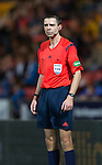 St Johnstone v Motherwell....31.10.14   SPFL<br /> Referee Kevin Clancy<br /> Picture by Graeme Hart.<br /> Copyright Perthshire Picture Agency<br /> Tel: 01738 623350  Mobile: 07990 594431