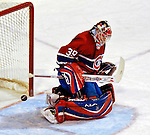 3 February 2007: Montreal Canadiens goaltender Cristobal Huet (39) of France makes a save against the New York Islanders at the Bell Centre in Montreal, Canada. The Islanders defeated the Canadiens 4-2.Mandatory Photo Credit: Ed Wolfstein Photo *** Editorial Sales through Icon Sports Media *** www.iconsportsmedia.com